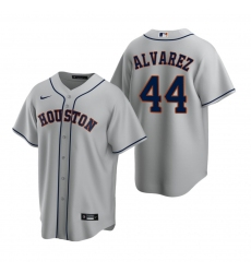 Men's Nike Houston Astros #44 Yordan Alvarez Gray Road Stitched Baseball Jersey