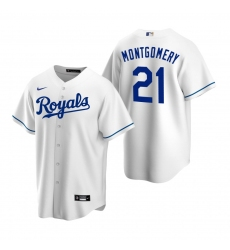 Men's Nike Kansas City Royals #21 Mike Montgomery White Home Stitched Baseball Jersey