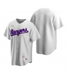 Men's Nike Texas Rangers Blank White Cooperstown Collection Home Stitched Baseball Jersey