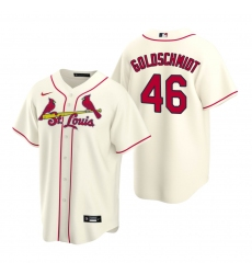 Men's Nike St. Louis Cardinals #46 Paul Goldschmidt Cream Alternate Stitched Baseball Jersey