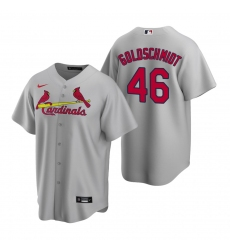 Men's Nike St. Louis Cardinals #46 Paul Goldschmidt Gray Road Stitched Baseball Jersey