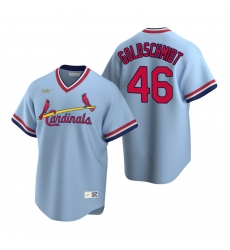 Men's Nike St. Louis Cardinals #46 Paul Goldschmidt Light Blue Cooperstown Collection Road Stitched Baseball Jersey