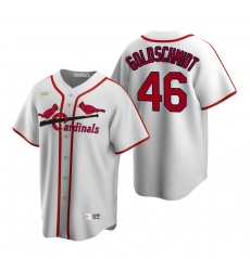 Men's Nike St. Louis Cardinals #46 Paul Goldschmidt White Cooperstown Collection Home Stitched Baseball Jersey