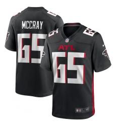 Men's Atlanta Falcons #65 Justin McCray Nike Black Game Player Jersey