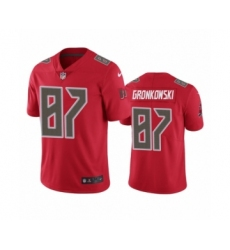 Tampa Bay Buccaneers #87 Rob Gronkowski Color Rush Limited Red Jersey