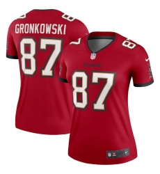 Women's Tampa Bay Buccaneers #87 Rob Gronkowski Nike Red Legend Jersey