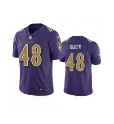 Baltimore Ravens #48 Patrick Queen Purple Color Rush Limited Jersey