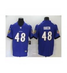 Baltimore Ravens #48 Patrick Queen Purple Team Color Vapor Untouchable Limited Player Football Jersey