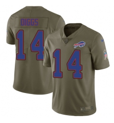 Nike Buffalo Bills #14 Stefon Diggs Olive Men's Stitched NFL Limited 2017 Salute To Service Jersey