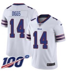 Nike Buffalo Bills #14 Stefon Diggs White Men's Stitched NFL 100th Season Vapor Untouchable Limited Jersey