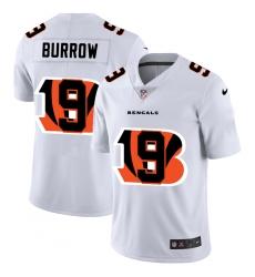 Men's Cincinnati Bengals #9 Joe Burrow White Nike White Shadow Edition Limited Jersey