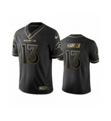 Denver Broncos #13 K.J. Hamler Black Golden Edition Vapor Limited Jersey