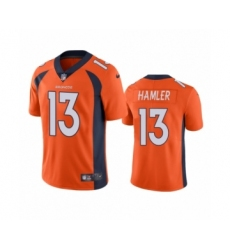 Denver Broncos #13 K.J. Hamler Orange Vapor Untouchable Limited Jersey
