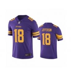 Minnesota Vikings #18 Justin Jefferson Color Rush Limited Purple Jersey