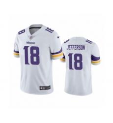 Minnesota Vikings #18 Justin Jefferson White 2020 NFL Draft Vapor Limited Jersey