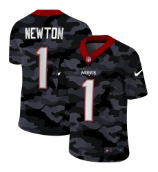 Men's New England Patriots #1 Cam Newton Camo 2020 Nike Limited Jersey