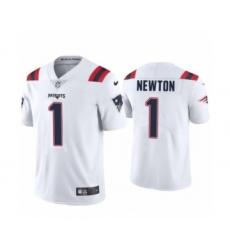 New England Patriots #1 Cam Newton White 2020 Vapor Limited Jersey