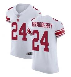 Nike New York Giants #24 James Bradberry White Men's Stitched NFL New Elite Jersey