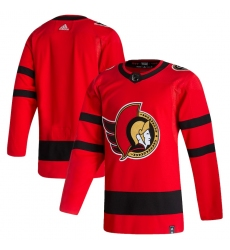 Men's Ottawa Senators adidas Blank Red 2020-21 Reverse Retro Authentic Jersey