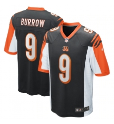 Men's Cincinnati Bengals #9 Joe Burrow Nike Black 2020 NFL Draft First Round Pick Game Jersey.webp