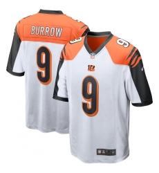 Men's Cincinnati Bengals Joe Burrow Nike White 2020 NFL Draft First Round Pick Game Jersey.webp