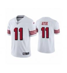 Men's San Francisco 49ers #11 Brandon Aiyuk 2020 Limited White Rush Vapor Untouchable Football Jersey
