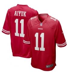 Men's San Francisco 49ers #11 Brandon Aiyuk Nike Scarlet 2020 NFL Draft First Round Pick Game Jersey