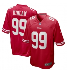 Men's San Francisco 49ers #99 Javon Kinlaw Nike Scarlet 2020 NFL Draft First Round Pick Game Jersey