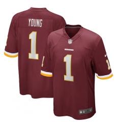 Men's Washington Redskins #1 Chase Young Nike Burgundy 2020 NFL Draft First Round Pick Game Jersey.webp