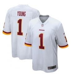 Men's Washington Redskins #1 Chase Young Nike White 2020 NFL Draft First Round Pick Game Jersey.webp
