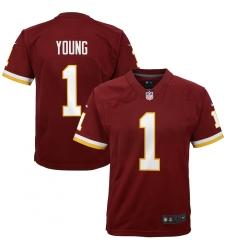 Youth Washington Redskins #1 Chase Young Nike Burgundy 2020 NFL Draft First Round Pick Game Jersey.webp