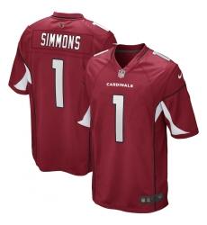 Men's Arizona Cardinals #1 Isaiah Simmons Nike Cardinal 2020 NFL Draft First Round Pick Game Jersey.webp