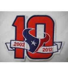 Houston Texans 10 Anniversary Patch