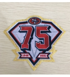 49ers 75th anniversary patch