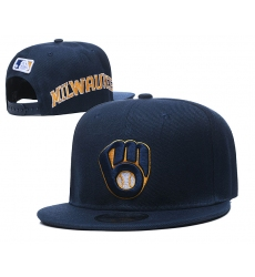 MLB Milwaukee Brewers Hats 001