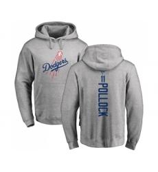 Baseball Los Angeles Dodgers #11 A. J. Pollock Ash Backer Pullover Hoodie