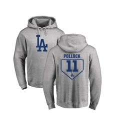 Baseball Los Angeles Dodgers #11 A. J. Pollock Gray RBI Pullover Hoodie