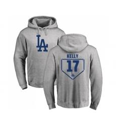 Baseball Los Angeles Dodgers #17 Joe Kelly Gray RBI Pullover Hoodie