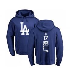 Baseball Los Angeles Dodgers #17 Joe Kelly Royal Blue Backer Pullover Hoodie
