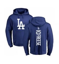 Baseball Los Angeles Dodgers #25 David Freese Royal Blue Backer Pullover Hoodie