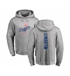 Baseball Los Angeles Dodgers #55 Russell Martin Ash Backer Pullover Hoodie