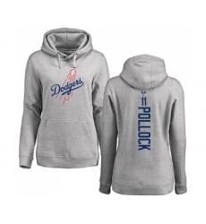 Baseball Women's Los Angeles Dodgers #11 A. J. Pollock Ash Backer Pullover Hoodie