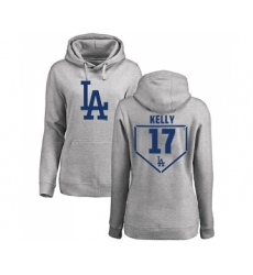 Baseball Women's Los Angeles Dodgers #17 Joe Kelly Gray RBI Pullover Hoodie