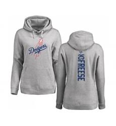 Baseball Women's Los Angeles Dodgers #25 David Freese Ash Backer Pullover Hoodie
