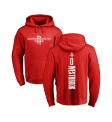Basketball Houston Rockets #0 Russell Westbrook Red Backer Pullover Hoodie