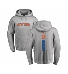 Basketball New York Knicks #13 Marcus Morris Ash Backer Pullover Hoodie