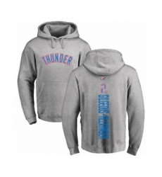 Basketball Oklahoma City Thunder #2 Shai Gilgeous-Alexander Ash Backer Pullover Hoodie