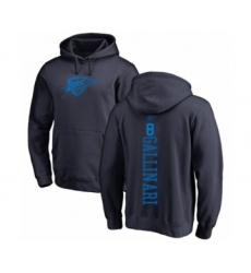 Basketball Oklahoma City Thunder #8 Danilo Gallinari Navy Blue One Color Backer Pullover Hoodie
