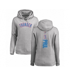 Basketball Women's Oklahoma City Thunder #3 Chris Paul Ash Backer Pullover Hoodie