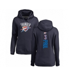 Basketball Women's Oklahoma City Thunder #3 Chris Paul Navy Blue Backer Pullover Hoodie